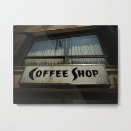 coffee shop Metal Print