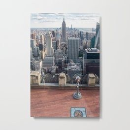 Coin operate viewfinder at Rockefeller Center Metal Print