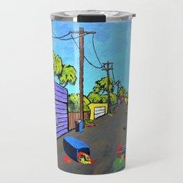 Los Angeles Alley (Original Acrylic Painting) by Mike Kraus - LA art valentines day girlfri Travel Mug