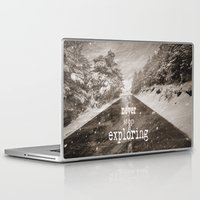 "never stop exploring Laptop & iPad Skins featuring ""Never stop exploring ... forests"" by Guido Montañés"