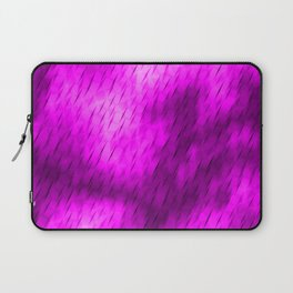 Line texture of magenta oblique dashes with a luminous intersection on a luminous charcoal. Laptop Sleeve