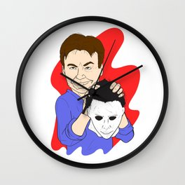 Michael Myers Unmasked Wall Clock