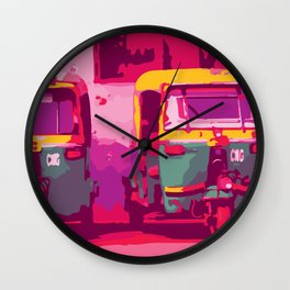 Rikshaw Wall Clock