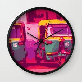 Rikshaw Wall Clock