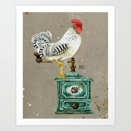 Rooster Wallace 2 Art Print