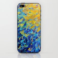 AQUATIC MELODY - Lovely Bright Abstract Ocean Waves Acrylic Painting Colorful Rainbow Beach Gift Art iPhone & iPod Skin