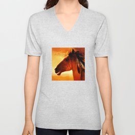 HORSE - Apache Unisex V-Neck