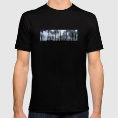 Fog and Forest III-wood,mist,romantic, greenery,sunset,dawn,Landes forest,fantasy Mens Fitted Tee MEDIUM Black