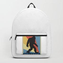 Funny Vintage Retro Sasquatch Bigfoot Gift Silhouette Gag Gift Backpack