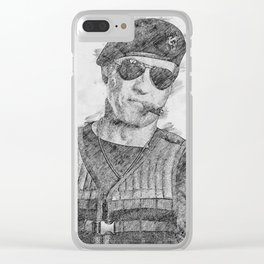 Barney Ross Clear iPhone Case
