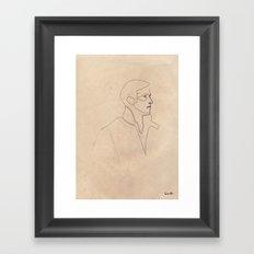 One line Drive (Ryan Gosling)  Framed Art Print