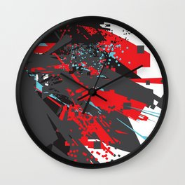 Adventures in an Amorphous Landscape Wall Clock