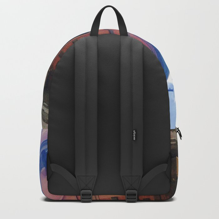 STOP For Brooklyn Heights Brownstone Red Brick Love Backpack