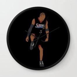 NBA Players   Allen Iverson over Lue Wall Clock