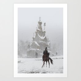where the ancient pagan temple had once stood Art Print