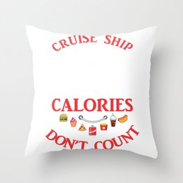 Cruise Ship Vacation Gift Buffet Food Lover Throw Pillow