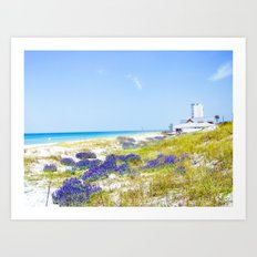 Purple Sprinkles Art Print