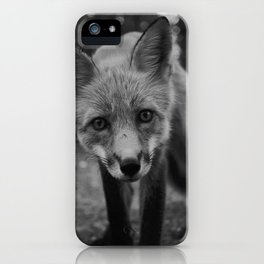 The Fox (Black and White) iPhone Case