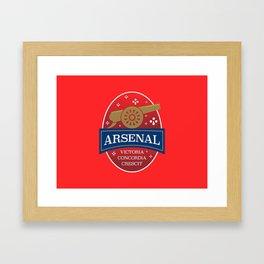 North London Red Football Framed Art Print