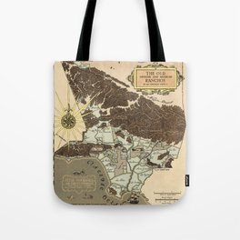 Map of Los Angeles 1930 Tote Bag