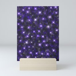Ultra Violet Stars in a Purple Galaxy Mini Art Print