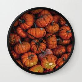 Orange Gourds Wall Clock
