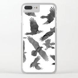 Birds in Flight Clear iPhone Case