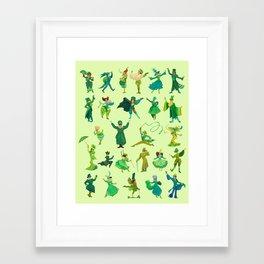 positively emerald Framed Art Print