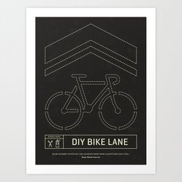 DIY Bike Lane Art Print