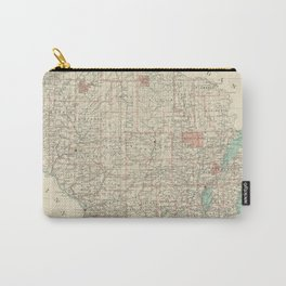Vintage Map of Wisconsin (1886) Carry-All Pouch