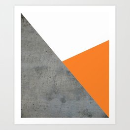 Concrete Tangerine White Art Print