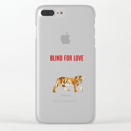 Blind for Love Tiger Poster Clear iPhone Case