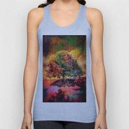 """""""The Rainbow Textured Tree"""" Unisex Tank Top"""
