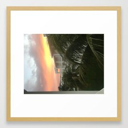 Christmas sunset Framed Art Print
