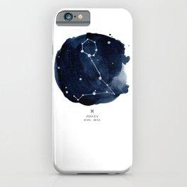 Zodiac Star Constellation - Pisces iPhone Case