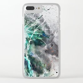 Space mushroom Clear iPhone Case