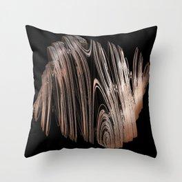 3D Fractal Coils Throw Pillow
