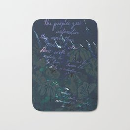 """""""Conquest of the Useless"""" by Werner Herzog Print (v. 11) Bath Mat"""