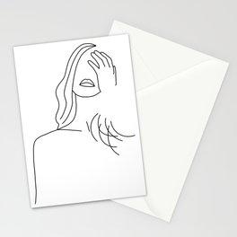 Posing girl Stationery Cards