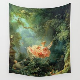 The Swing by Jean-Honoré Fragonard Wall Tapestry