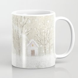 little house in the snow Coffee Mug