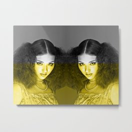 Illuminating Funky Gray LOLITA Metal Print
