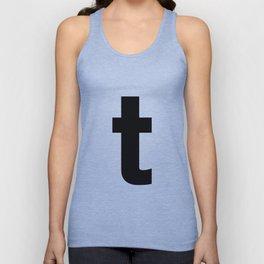 letter T (Black & White) Unisex Tank Top