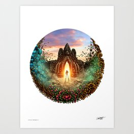 TIME TRAVELER - COLORED - Visothkakvei Art Print