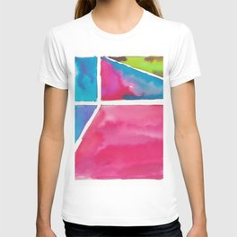 180811 Watercolor Block Swatches 12| Colorful Abstract |Geometrical Art T-shirt