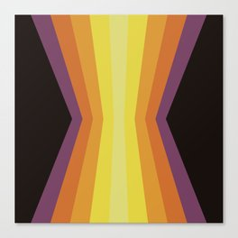 Retro Sunset Reflection Canvas Print