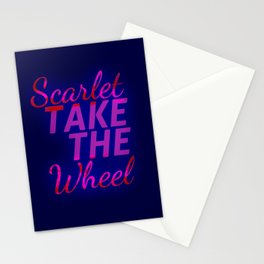 Scarlet, Take the Wheel Stationery Cards