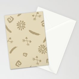 Cute Abstract Symbols Stationery Cards