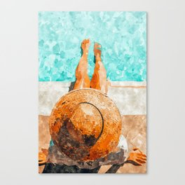 By The Pool All Day Canvas Print