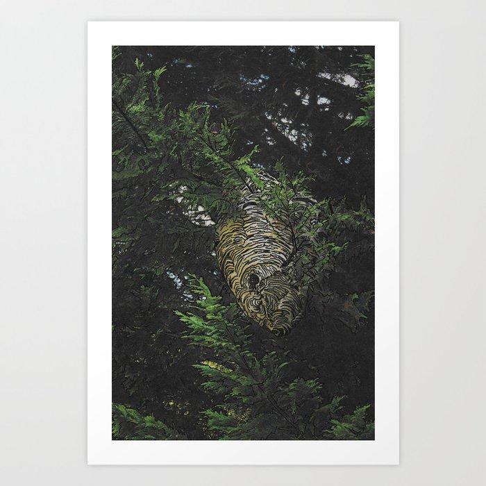 Hornet Nest Art Print
